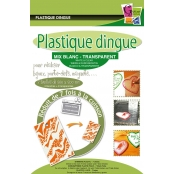 Plastique dingue Transparent & blanc 7 feuilles