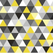 Serviette Triangles yellow/black 20 pièces