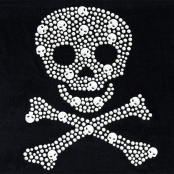 Transfert thermocollant clou & strass Little Pirate 16x20 cm