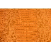 Coupon Simili Cuir 66x45 cm Croco Orange