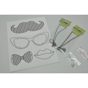 Kit Plastique Dingue Bijoux Collier Moustache
