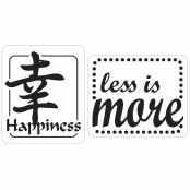 Tampon fond de moule savon Happiness & Less is more