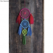 Kit DreamCatcher Attrape-rêves 14x41cm Couleurs vives