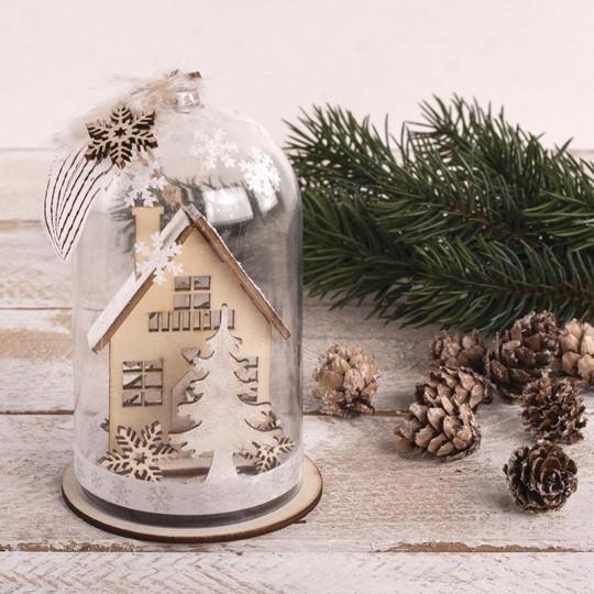 Kit en bois Maisons d'hiver 31 pièces Rayher Décoration