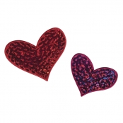 Patch thermocollant Hearts 5cm 2 pièces