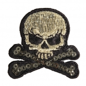 Patch thermocollant Skull and bones 4,2cm 1 pièce