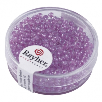 14312306 - 4006166277405 - Rayher - Perle Rocaille arktis lustrée Lilas tendre 2,6mm 17 g