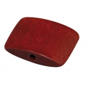 Perle bois Bayong Rouge cardinal Coussin 1,8 x 2,3 cm