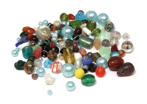 Rayher Perle en verre Grand trou /à˜ 6 7 mm Assortiment