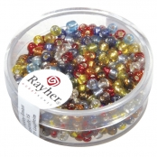 Perle rocaille garniture argentée Assortiment Ø2,6mm16 g