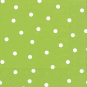 Serviettes Vert clair & Points 33 x 33 cm Le paquet