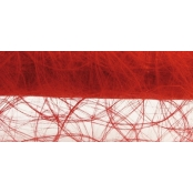 Chemin de table Intissé rouge 30 cm rouleau 25 m