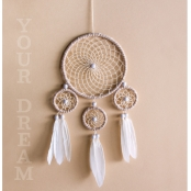 Kit DreamCatcher Attrape-rêves 17x33cm beige/brun