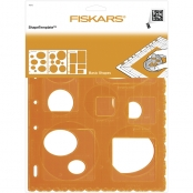 Pochoir ShapeCutter Fiskars Rond ovale et rectangle