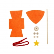 Kit lutin en feutrine 15 cm Orange