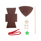 Kit lutin en feutrine 15 cm Marron