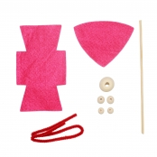 Kit lutin en feutrine 15 cm Rose