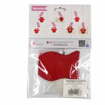 L299433 - 3700982292673 - Sodertex - Kit chouette en feutrine Rouge