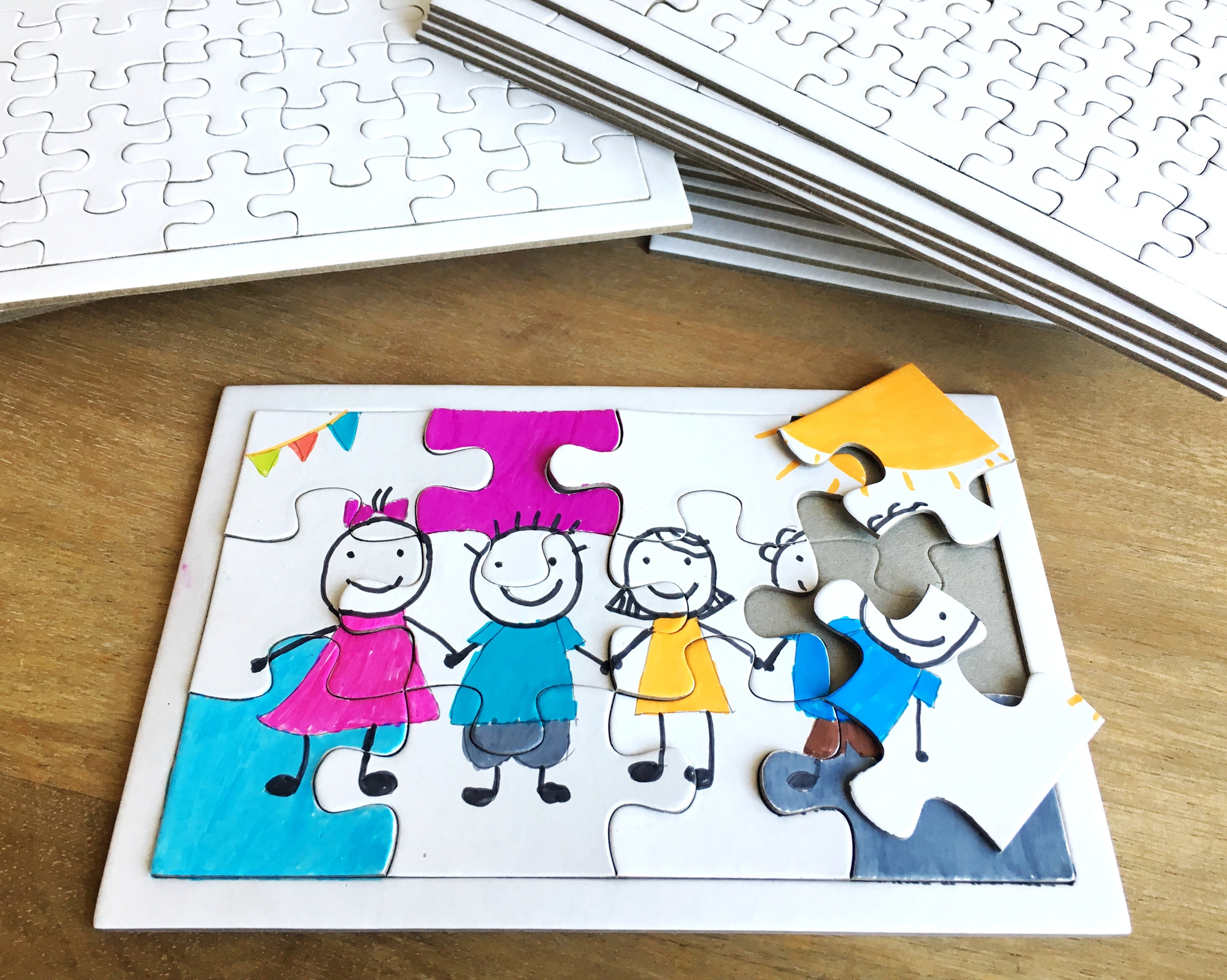 Puzzle Vierge De 12 Pièces à Décorer 10 Puzzles Activités