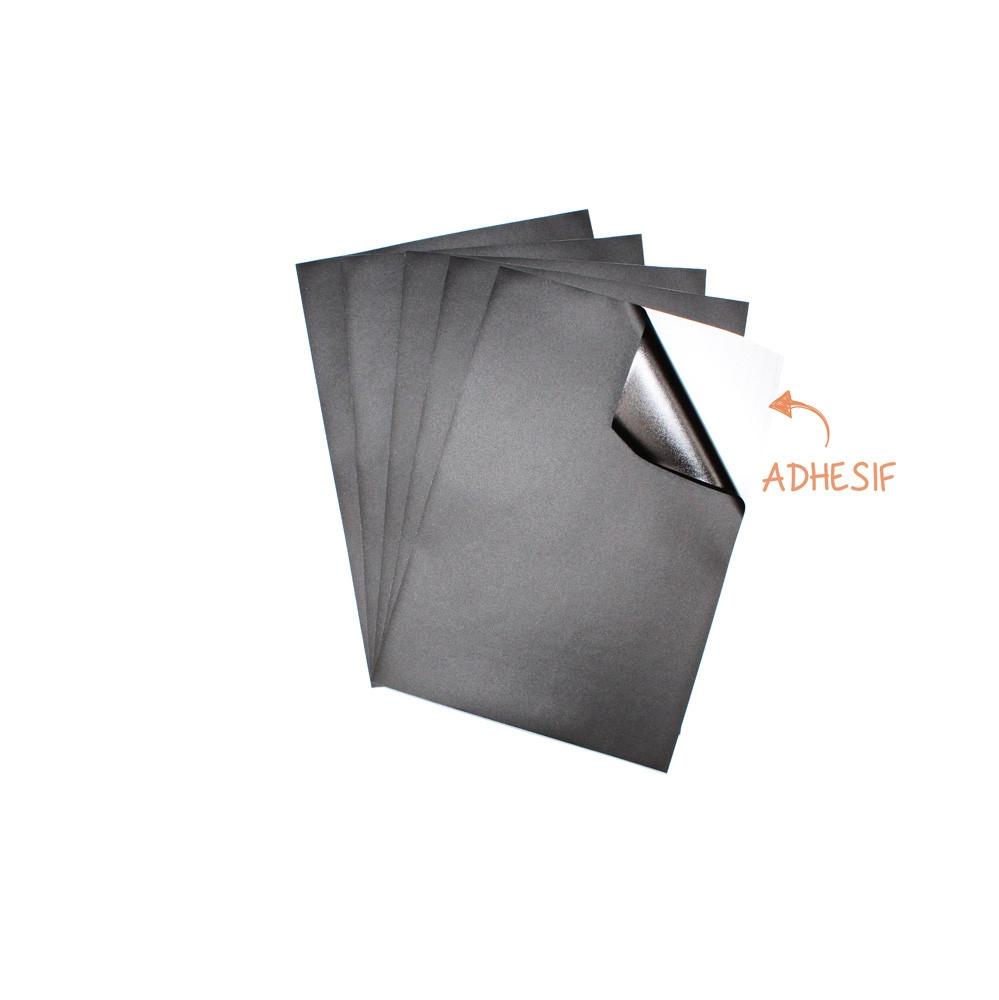 Comment Coller De L Ardoise feuille adhésive ardoise a4 pour créer des stickers 5 pièces