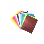 Feutrine 1 mm Polyester 24 x 30 cm Assort. 12 coupons
