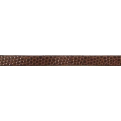 Bracelet 6 mm Style croco Marron