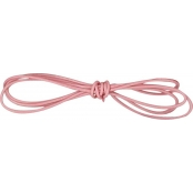Cordon cuir Ø 1 mm Rose 1 m