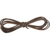 Cordon cuir Ø 1 mm Marron 1 m
