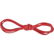 Cordon cuir Ø 1 mm Rouge 1 m