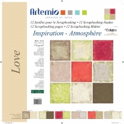 Papier Assortiment 2 Love 12 feuilles