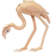 Maquette en bois Flamand rose