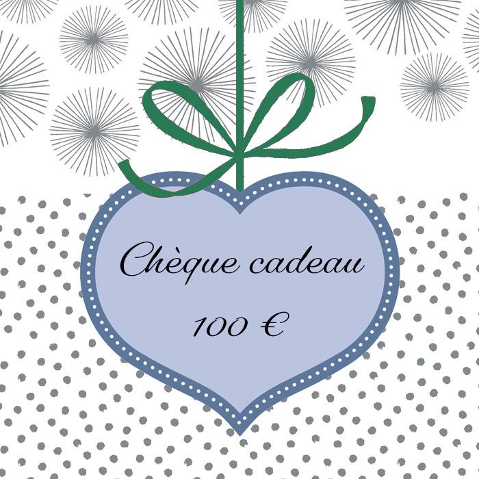 Cliquez ici pour commander un chèque cadeau de 100 euros