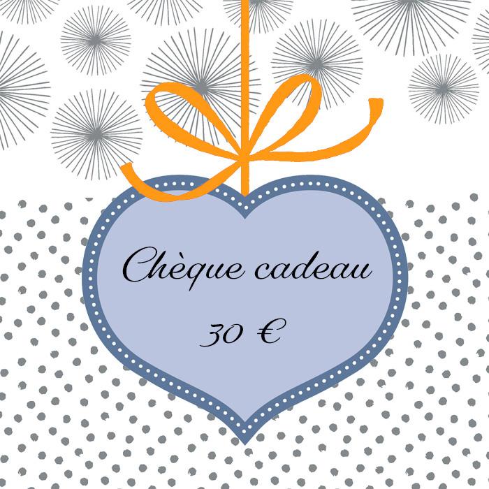 Cliquez ici pour commander un chèque cadeau de 30 euros
