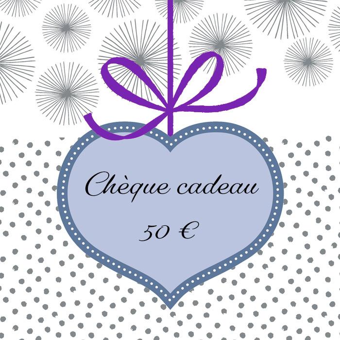 Cliquez ici pour commander un chèque cadeau de 50 euros