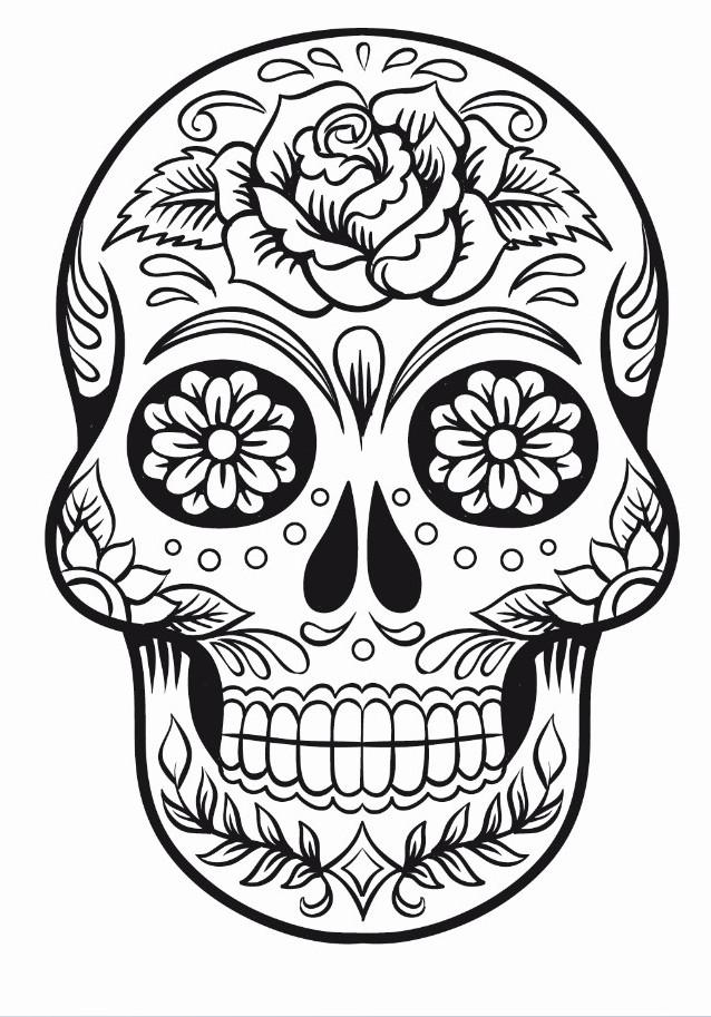 Sugar Skull Outline   www.pixshark.com - Images Galleries
