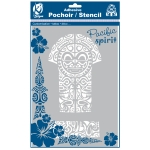 Pochoir adhésif pour tissu Tiki maori A4