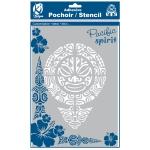 Pochoir adhésif pour tissu Mandala maori A4