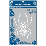 Pochoir adhésif pour tissu Araignée maori A4