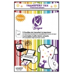 Papier transfert tissu thermocollant imprimable 2 pièces