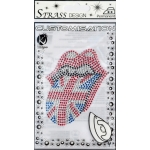 Transfert thermocollant clou & strass Rock'n roll 10x8cm