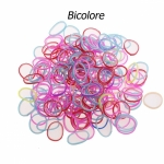 200 élastiques Loom Bicolore MulticoloreBlanc