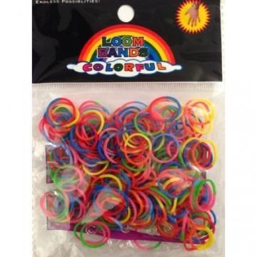 8660 - 3662904085575 - Loom - 200 élastiques Loom Bicolore Assortiment