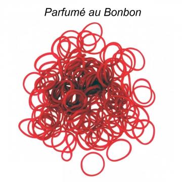 8808 - 3700982210196 - Loom - 200 élastiques Loom Rouge parfum bonbon