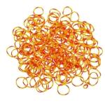 200 élastiques Loom Octobande jaune et orange