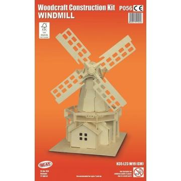 P056 - 5060027570646 - Quay - Maquette en bois Moulin à vent - 2