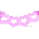 Guirlande Coeur rose 3 m
