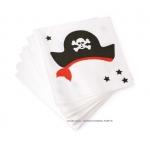 Serviettes Pirate 25cm 20 pièces
